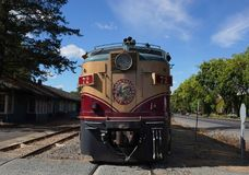 Wine train in Napa, California. NAPA VALLEY, CALIFORNIA - SEPTEMBER 21, 2017: Wine train in Napa, CA. It is an excursion train that runs between Napa and St royalty free stock image