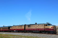 Wine train in Napa. It is an excursion train that runs between Napa and St. Helena, California Stock Photography