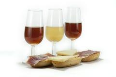 Wine tree and ham Stock Photography