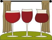 Wine Trio Royalty Free Stock Photos
