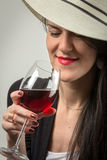 In wine is the truth. Royalty Free Stock Photography