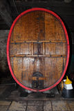 Wine tun. Big wine tun in a cellar royalty free stock photo
