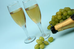 wine två arkivfoto