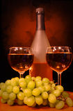 Wine For Two. Wine setting for two Stock Images