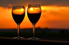 Wine for two Stock Images
