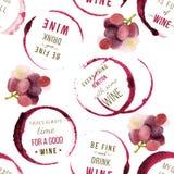 Wine type designs seamless Stock Image