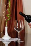 Wine in un vetro Fotografia Stock