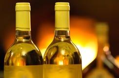 Wine una bottiglia Fotografia Stock Libera da Diritti
