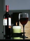 Wine und speisen Sie Stockbild