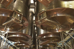 Wine Vats Inside The Winery Stock Photography