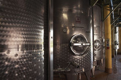 Wine Vats Inside The Winery Royalty Free Stock Image