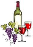 Wine – Vector Illustration Stock Photography