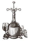Wine vector logo design template. grape or drink Royalty Free Stock Photos