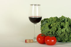 Wine and vegetables Royalty Free Stock Image