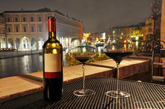 Wine in Venice royalty free stock photo