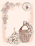 Wine vignette - background Stock Photography