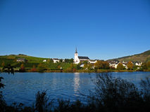 Wine village. Minheim at the Moselle in Germany Stock Photography