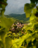 Wine village in france Royalty Free Stock Photography
