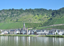 Wine Village of Hatzenport,Mosel River,Germany royalty free stock photography