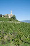 Wine Village of Kurtatsch,south Tyrolean Wine Route,Italy. The famous Wine Village of Kurtatsch near merano and Bolzano,South Tyrolean Wine Route,Trentino,Alto royalty free stock photo
