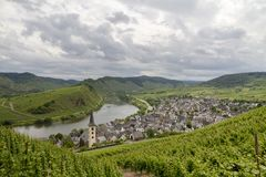Wine Village in Mosel Valley, Rhineland-Palatinate, Germany. Image royalty free stock image