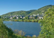 Wine Village of Reil,Mosel Valley,Germany. Wine Village of Reil at Mosel River in Mosel Valley,Rhineland-Palatinate,Germany royalty free stock image