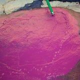 Wine vinasse rich in tartaric acid in magenta pink Royalty Free Stock Images