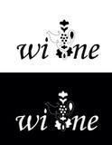 Wine or vine  logo Royalty Free Stock Image