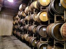 Wine vineyard barrels royalty free stock images