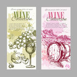 Wine Vineyard Label Set Stock Images