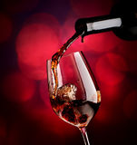 Wine on vinous background Royalty Free Stock Images