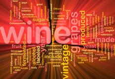 Wine vintage background concept glowing Stock Photos
