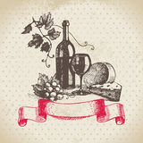 Wine vintage background Stock Image