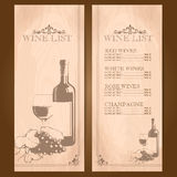 Wine vintage frame Royalty Free Stock Photography
