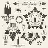 Wine. Vintage.  labels and icons Royalty Free Stock Photo