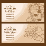 Wine vintage list Royalty Free Stock Photo
