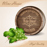 Wine vintage list house botte Stock Photo