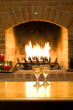 Wine,warmth, and romance Royalty Free Stock Photo
