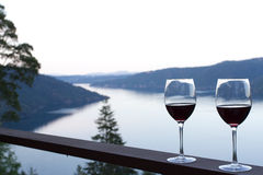 Wine with Water in Background Royalty Free Stock Images