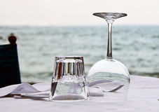 Wine and water glasses Stock Photography