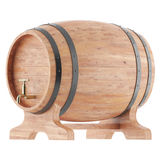 Wine, whiskey, rum, beer barrel. Isolated on a white background. 3d illustration high resolution Stock Photo