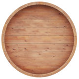 Wine, whiskey, rum, beer, barrel top view Stock Photo