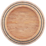 Wine, whiskey, rum, beer barrel top view. Wine, whiskey, rum, beer barrel isolated on a white background. 3d illustration high resolution Stock Image