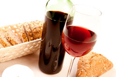 Wine on white Stock Images
