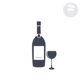 Wine. On a white background shows an icon indicating wine Royalty Free Stock Photos