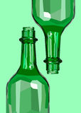 Wine white glass design shadows liquid Stock Image