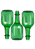 Wine white glass design shadows liquid Royalty Free Stock Photos