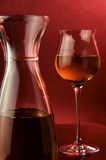 Wine white glass and jug Royalty Free Stock Images