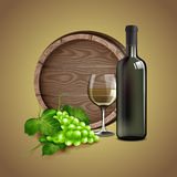 Wine white house Stock Images