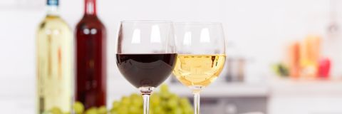 Wine white red banner copyspace Royalty Free Stock Photography